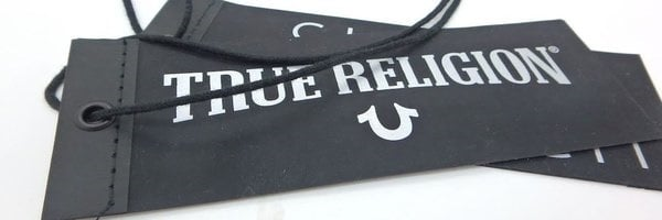 true religion hang tags