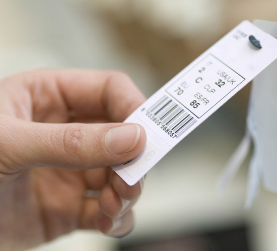 clothes tag barcode