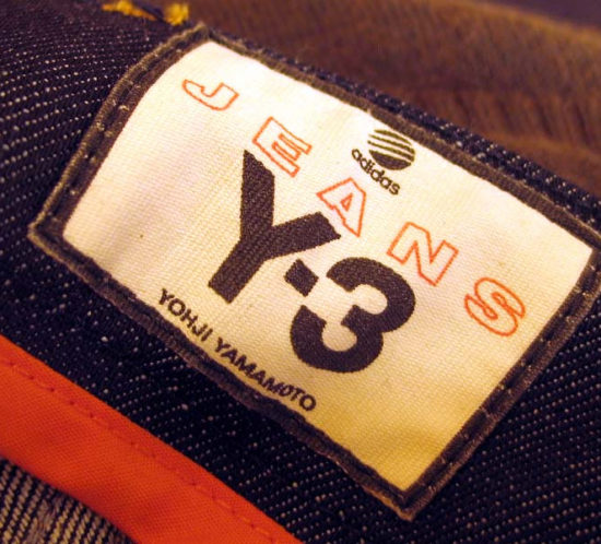 Woven label for jean y-3