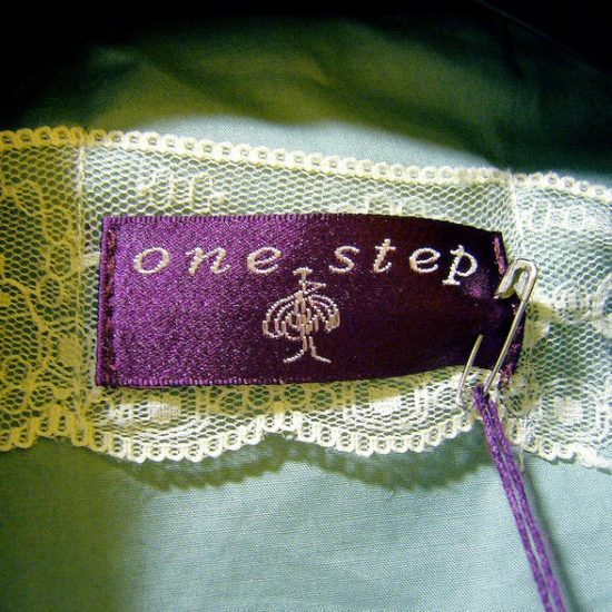 woven label one step