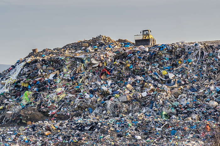 plastic landfill textile industry waste