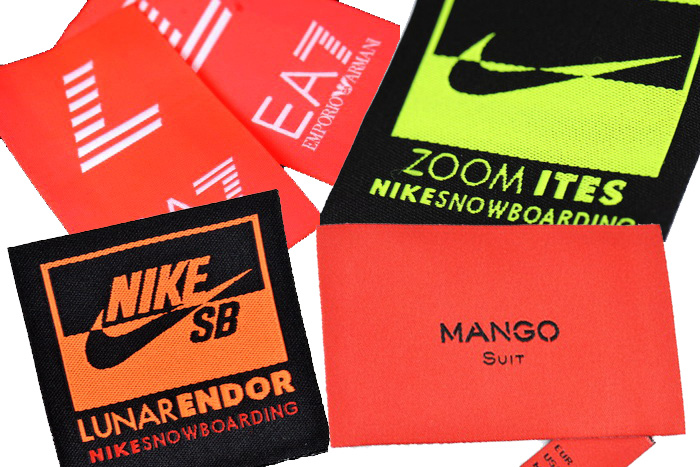 Colourful clothing tags