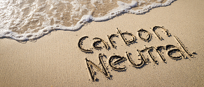 Carbon Neutral in the sand
