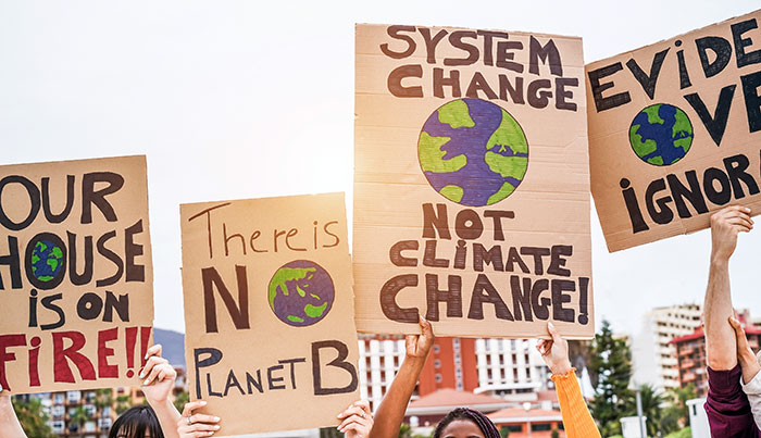 Global warming protesters