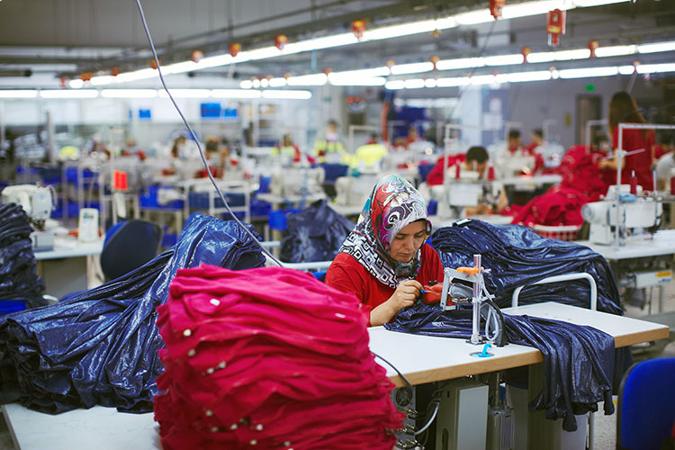 Third world textile worker and covid